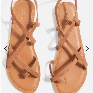 Topshop Brown Strappy Sandal